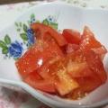 簡単にもう一品!トマトとすりごまの旨和え