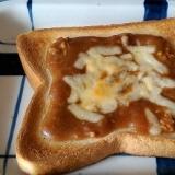 昨日のカレーで朝ご飯!簡単カレートースト♪