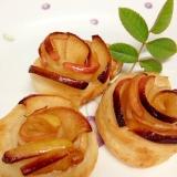 トースターでも焼ける!バラの花のアップルパイ