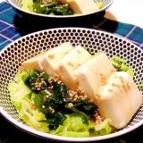 豆腐とキャベツのサラダ(中華ドレッシング)