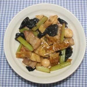簡単☆本格中華料理☆乾燥湯葉のオイスターソース炒め