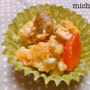 煮物リメイク お弁当に レンジで和風炒り卵