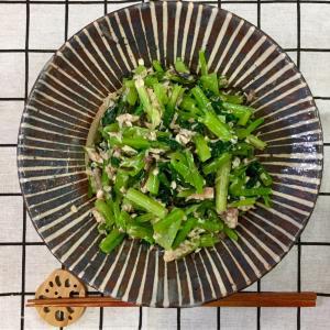 サバ缶+塩昆布で!無限小松菜