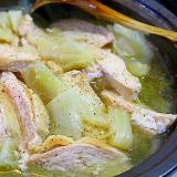 蒸し白菜の塩鍋