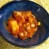 フライパンで出来る★鶏胸肉のトマト缶煮込み