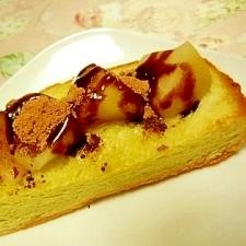 幸せな朝に❤林檎コンポートと生姜蜂蜜のトースト❤