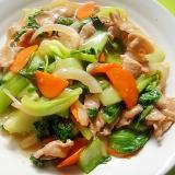 チンゲン菜と豚肉の中華風炒め煮