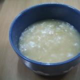 さつまいも、白米、玄米のおかゆ