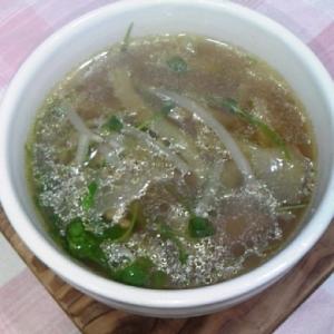 ザーサイと豆苗のスープ♪