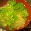 パクチーとキャベツのスープ
