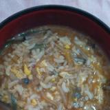 キムチ鍋の残りスープで美味しい♪クッパ♪