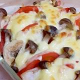 簡単!(^^)鶏むね肉とトマトのマヨチーズ焼き♪