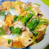 豆腐とサバ缶の卵とじ