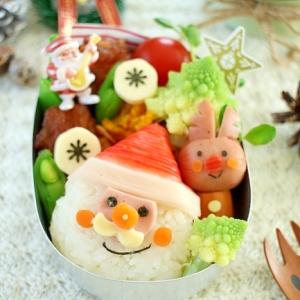 クリスマスキャラ弁♪サンタおにぎり弁当