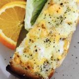 簡単朝ごはん!カフェ風卵焼きのオープントースト