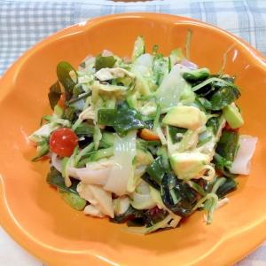 野菜たっぷり♪海藻サラダ(≧∇≦)