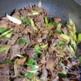 牛肉と長ネギの甘辛煮