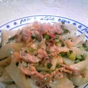 豚肉と大根の中華風炒め