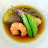 水茄子と小海老の冷たい煮物