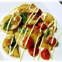 山芋とプチトマトの大葉&梅焦がし醤油マヨ
