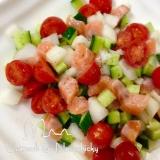 ひんやり美味しい♪プチトマト&サーモンのロミロミ