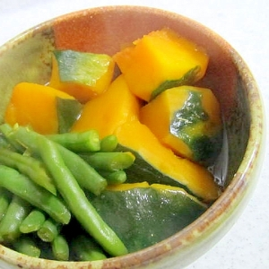 南瓜といんげんの煮物