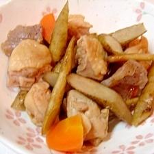 ルクエ de 鶏ごぼうの煮物★筑前煮