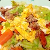 フワフラたまご入りの肉野菜炒め