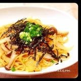 麺つゆで簡単に★美味しい〜きのこの和風パスタ