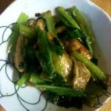 小松菜と牡蠣の炒め物