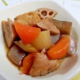 圧力鍋で鶏と野菜の煮物++