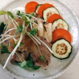★豚ヒレステーキの梅おろしのせ★簡単、栄養満点