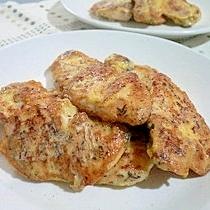 鶏肉のピカタ~ゆかりにんにく風味
