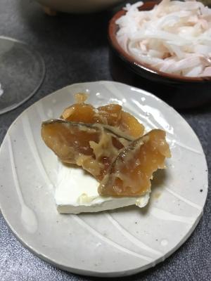 奈良漬とクリームチーズのオードブル