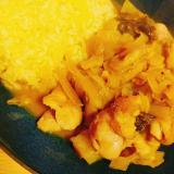 鶏モモ キャベツ 小松菜のスパイスカレー