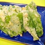 ふきの葉の天ぷら