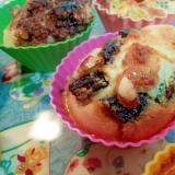 プルーンとカシューナッツのカップケーキ
