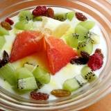 グレープフルーツ可愛め❤美肌ヨーグルト♪(キウイ)