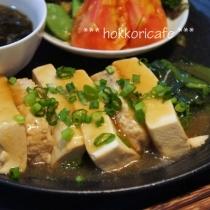 ダイエット料理 豆腐とつくねの和風あんかけ