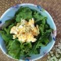 レタスと水菜の卵サラダ