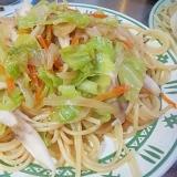 キャベツと舞茸のスパゲッティ