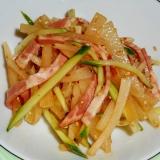 ヤーコンときゅうりの中華風サラダ
