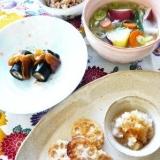 辛子レンコンの、鶏と卯の花のはさみ揚げ