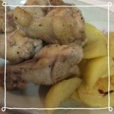 鶏手羽元の塩こしょう炒め꒰ ♡´∀`♡ ꒱