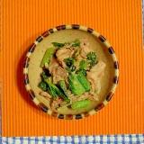 高菜と豚こまのゴマ味噌炒め♪