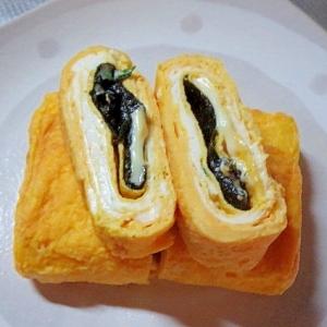 紫蘇のりチーズの卵焼き