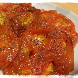 トマトのガーリックバターソテー