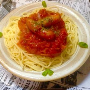 ウィンナートマトスパゲティ♪大盛り♪