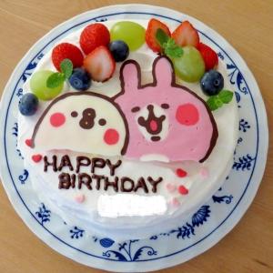 簡単☆ピスケとうさぎのキャラケーキ(キャラチョコ)