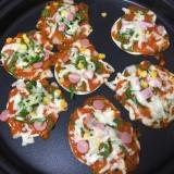 簡単☆おいしい★餃子の皮ピザ
